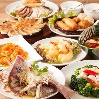 高級食材を使用「超豪華コース」5,000円(税抜)は記念日や接待に