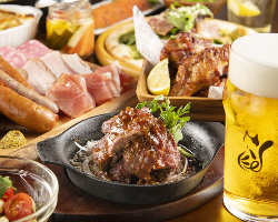 お肉メニューが盛りだくさんなご宴会コース