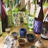 100種類以上の純米酒をご用意しております。