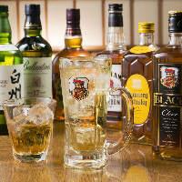 [普段の飲み会にもOK!] 豊富なお酒をご用意しております。