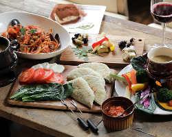 前菜からデザートまで絶品イタリアンが愉しめるコースをご用意