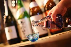 厳選した日本酒を各種ご用意