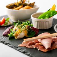 素材を活かす調理法で作る本格イタリアンの逸品をご堪能ください