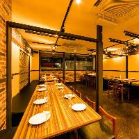 広々としたテーブル個室はプライベートなご宴会にも安心です。