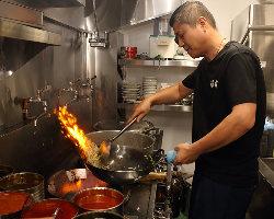 中華料理に欠かせない超強火で仕上げアツアツでご提供