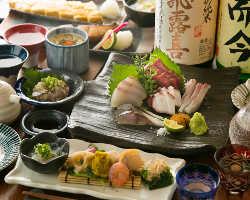 海鮮やお肉など、メニューが充実