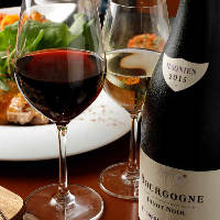 軽い口当たり~フルボディまで、個性豊かなワインを取り揃え。