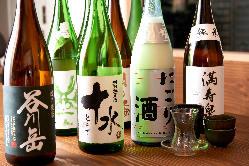 日本酒飲み放題プラン 1時間 1,500円(税抜)