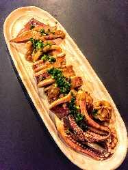 「イカわた焼き」のプリプリした食感をお楽しみください!