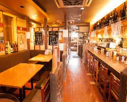 ◆ゆったりと落ち着く店内は、各種飲み会等に貸切も可能です☆