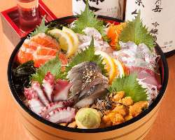 ■仕入れによって変わる、獲れたて鮮魚のお刺身を堪能!