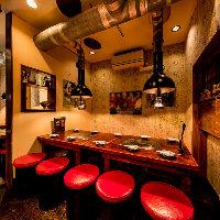個室のようにも使える店奥の~10名様テーブル席はご宴会に最適