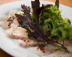 4種の魚で作るクアトロカルパッチョは絶品!一番人気です♪
