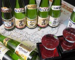 全国の厳選日本酒など用意!飲みきりサイズが評判♪