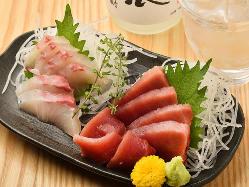 中央市場より仕入れた脂ののった旬の活魚をご堪能ください