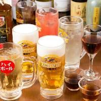 【ドリンク】 ビール、サワー、紹興酒など種類豊富なドリンク