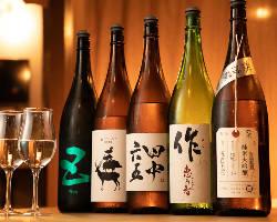 [店長自慢の日本酒] 定番から季節ものまで幅広くご用意!