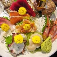 鮮度抜群の魚介類