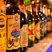 世界40カ国以上、約120種類のビールが楽しめる!