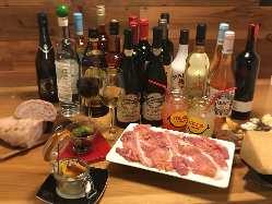 季節に合わせた選りすぐりのワインを豊富に取り揃えております。