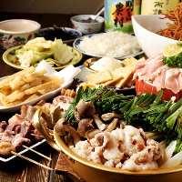 地鶏料理が次々と登場する宴会コースはお得です!