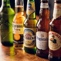 イタリア産を中心に個性的な味わいのビールを各種取り揃えました