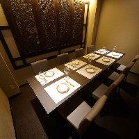 個室席を完備しており、接待や会食にお勧めです。