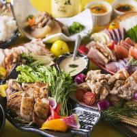皆と愉しむ地鶏宴会!飲み放題付きコースは2,500円〜!