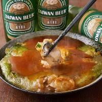 台湾でも人気のお好み焼き、オムレツのようなカ仔煎!