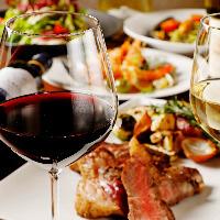 料理に合う厳選ワインは、ソムリエのおすすめもご提案いたします