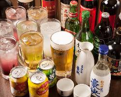 [種類充実の飲み放題] 大勢でのご宴会に欠かせない飲み放題