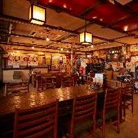 広く開放感のある店内。居心地の良い空間でお食事をどうぞ