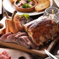 様々な部位を使用した肉料理を多数ご用意しております♪
