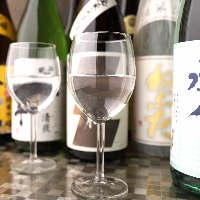 各地から取り寄せた日本酒。季節に応じて旬のものをご用意。