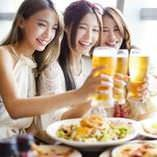 宴会やお仕事帰りの飲み会,女子会にも最適なバル個室◎