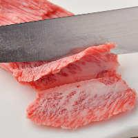 肉はご注文を受けてから1枚1枚丁寧に手切りしてご提供いたします
