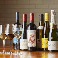 厳選のボトルワインは80種類以上常備しております