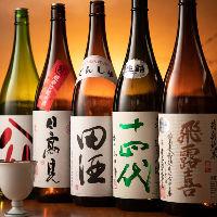 日本各地の秘蔵酒は「十四代」などの希少な日本酒もございます