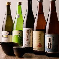 日本酒もお料理に合うものを当店が厳選してご用意しております