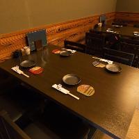 貸切や個室などご利用にはアットホームなテーブル席をどうぞ