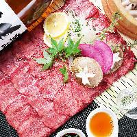 【食放】仙台牛しゃぶしゃぶと炙り2種類で3時間飲放8品¥3500