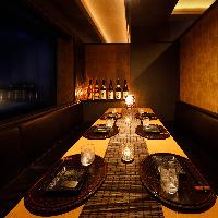 【完全個室】当店のお席は全席完全個室のプライベート空間です。
