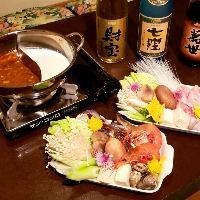 【冬の定番】台湾火鍋。麻婆or牛乳で具材も選択できます。