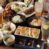 餃子を楽しむ飲み放題付き宴会コースは2,200円(税抜)からご用意