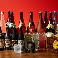 焼酎や日本酒なども種類豊富に取り揃えております。