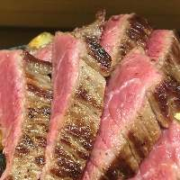 岩塩・西洋わさびで食す岩手吊るし短角牛ステーキ☆