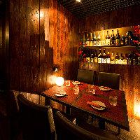 照明使いが美しい極上個室席。内装に凝った居酒屋です◎