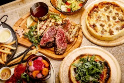 肉×チーズ×シカゴピザはコースでもご案内できます