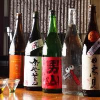 日本全国各地から厳選した地酒など日本酒も必見です