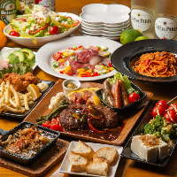 NANAは料理にもこだわっております。人気の大満足コース各種。